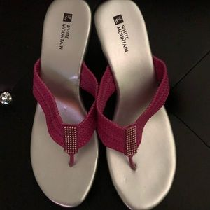 Pink Bling Thong Sandals